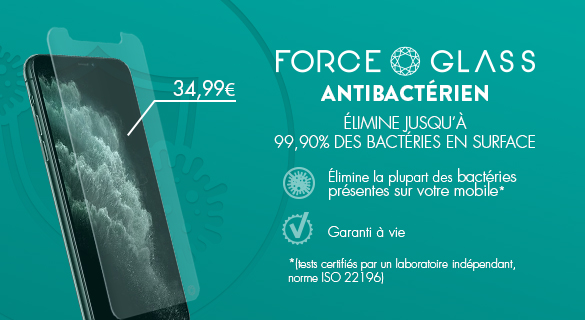 FORCE GLASS IPHONE 11 ANTI BACTERIEN